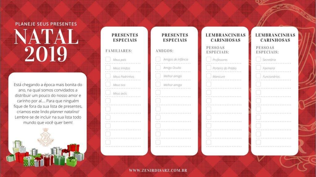 planejador de presentes